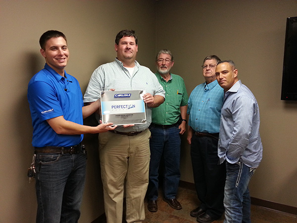 Carlisle SynTec Systems Honors Pyramid Roofing With Perfection Award