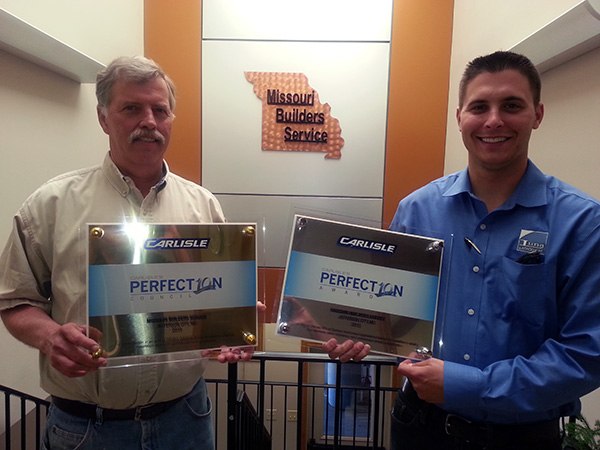 Carlisle Syntec Systems Honors Missouri Builders Service
