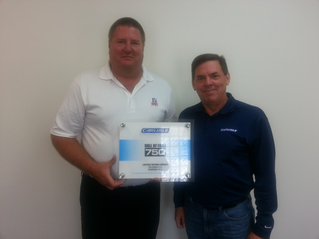 Carlisle Honors Lakeside Roofing Company For 750 U201cPerfect 10u201d Roofing  Installations